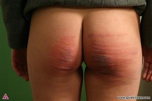 Naked girl caned